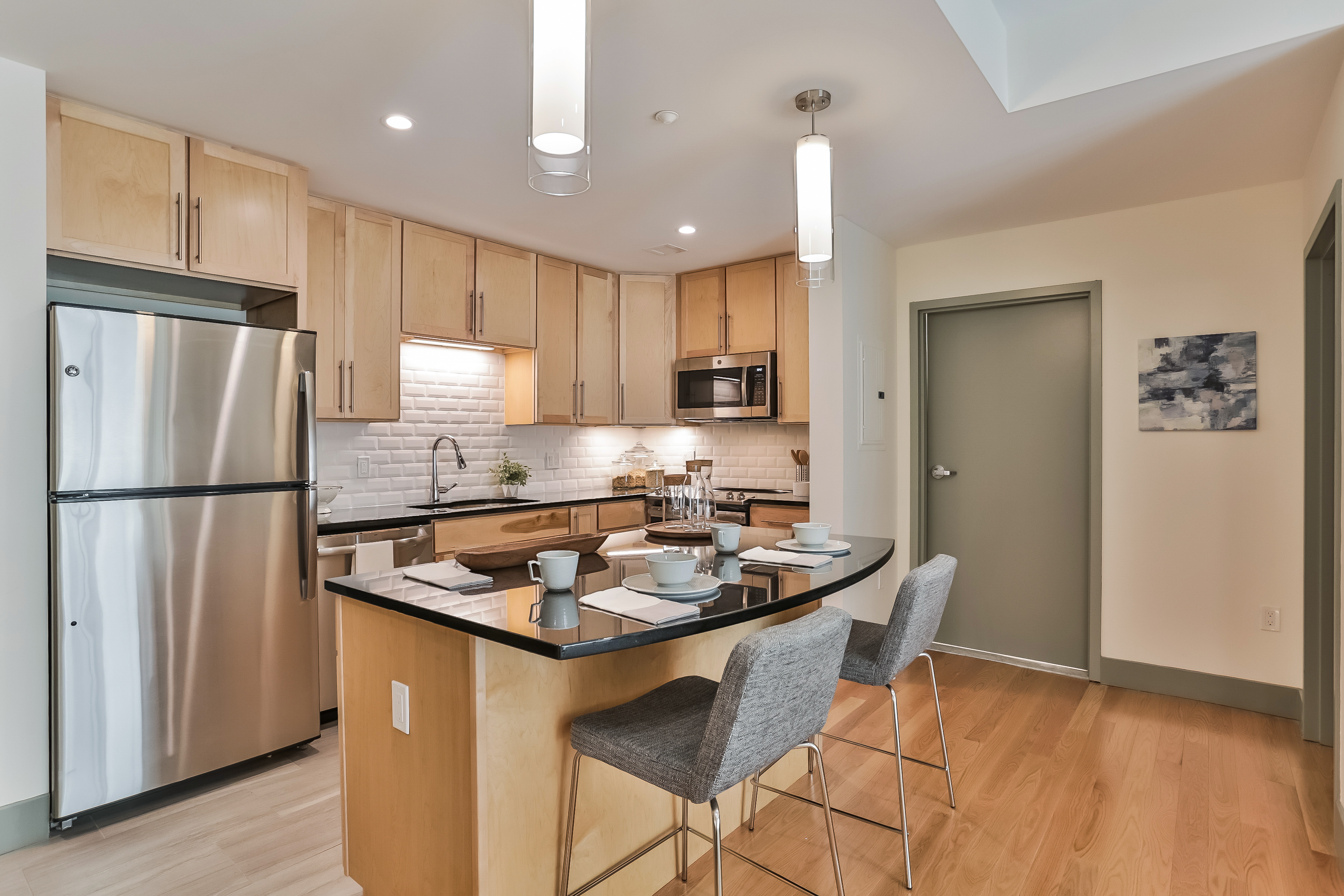 Contemporary kitchen, ready for entertaining